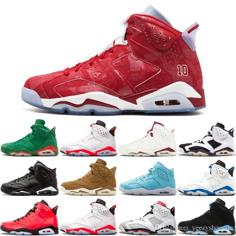 6 Carmine Basketball Shoes 6S Slam Dunk Pantone Maroon Tinker HatfieldI  Infrared 23 Oreo Alternate Oreo Black Cat CNY Men Sport Sneaker Cheap  Sneakers ... 32446dfac