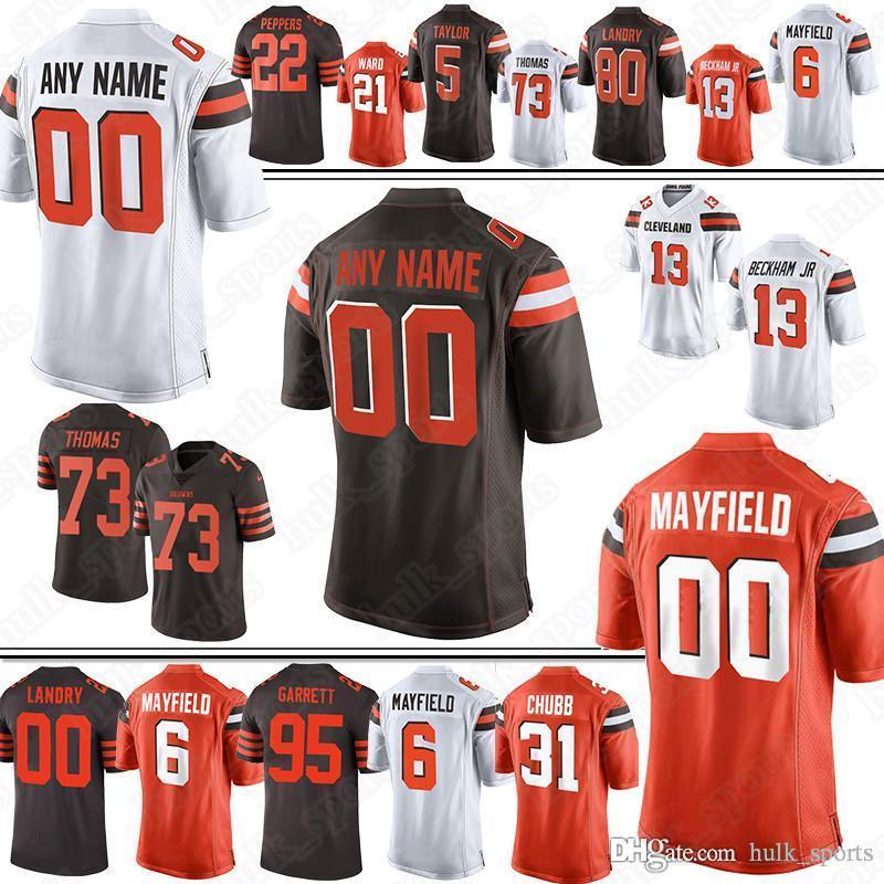watch 101c3 87ce3 13 Odell Beckham Jr jersey Browns Custom jerseys 95 Myles Garrett 24 Nick  Chubb 53 Joe Schobert 11 Antonio Callaway jersey