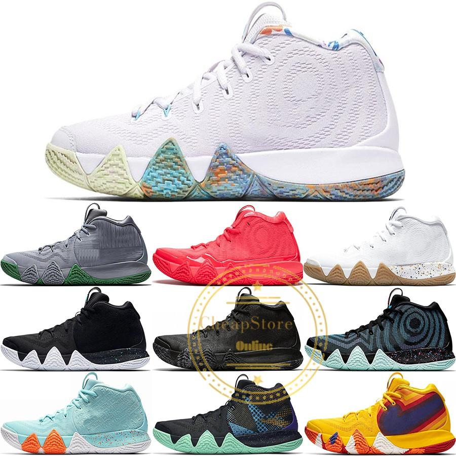 pretty nice 08f4e 92e23 4s Kyrie Irving Lucky Charms Mens Basketball Shoes Confetti BHM EQUALITY  All-Star March Madness City Guardians London Mamba Sneakers 40-46