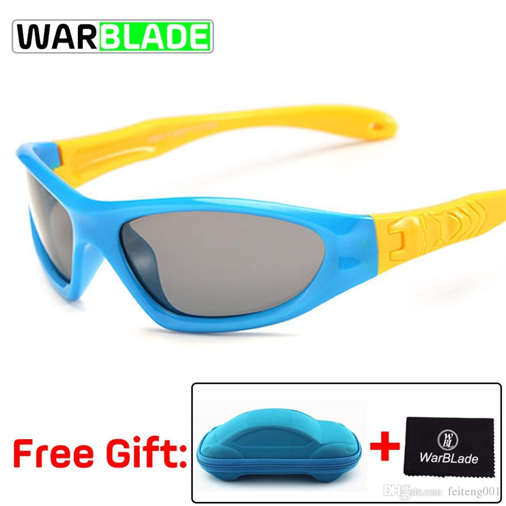 97f3cad780 Ciclismo Gafas TAC Flexible Para Niños Gafas De Sol Polarizadas Niño Niña  Niño Deporte Gafas De Sol Gafas UV 100% Gafas De Sol Con Estuche # 171496  Por ...