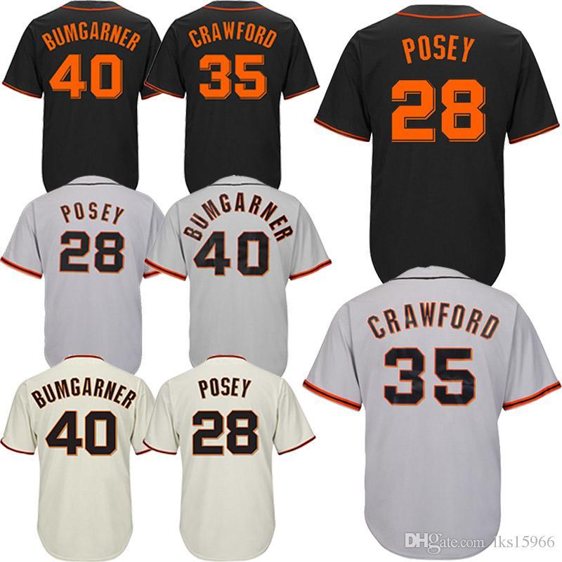 7bdabcb7f San Francisco Giants Baseball Jerseys 35 Brandon Crawford 40 Madison ...