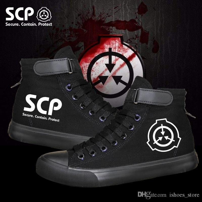 Scp Special Containment Procedures Foundation Luminous Canvas Shoes Coole Und Stilvolle Liebhaber Und Faulenzer 165999