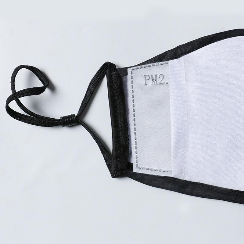 Im Lager Tuch Entwurfsgesichtsmaske Staubmaske Waschbar wiederverwendbare Masken mit 2 Stück Filtermatte Schutz Unisex Mund-Maske