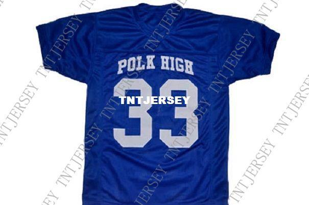 af66d2452 2019 Wholesale Al Bundy  33 Polk High Married With Children Football Jersey  Blue Stitched Custom Any Number Name MEN WOMEN YOUTH Football JERSEY From  ...