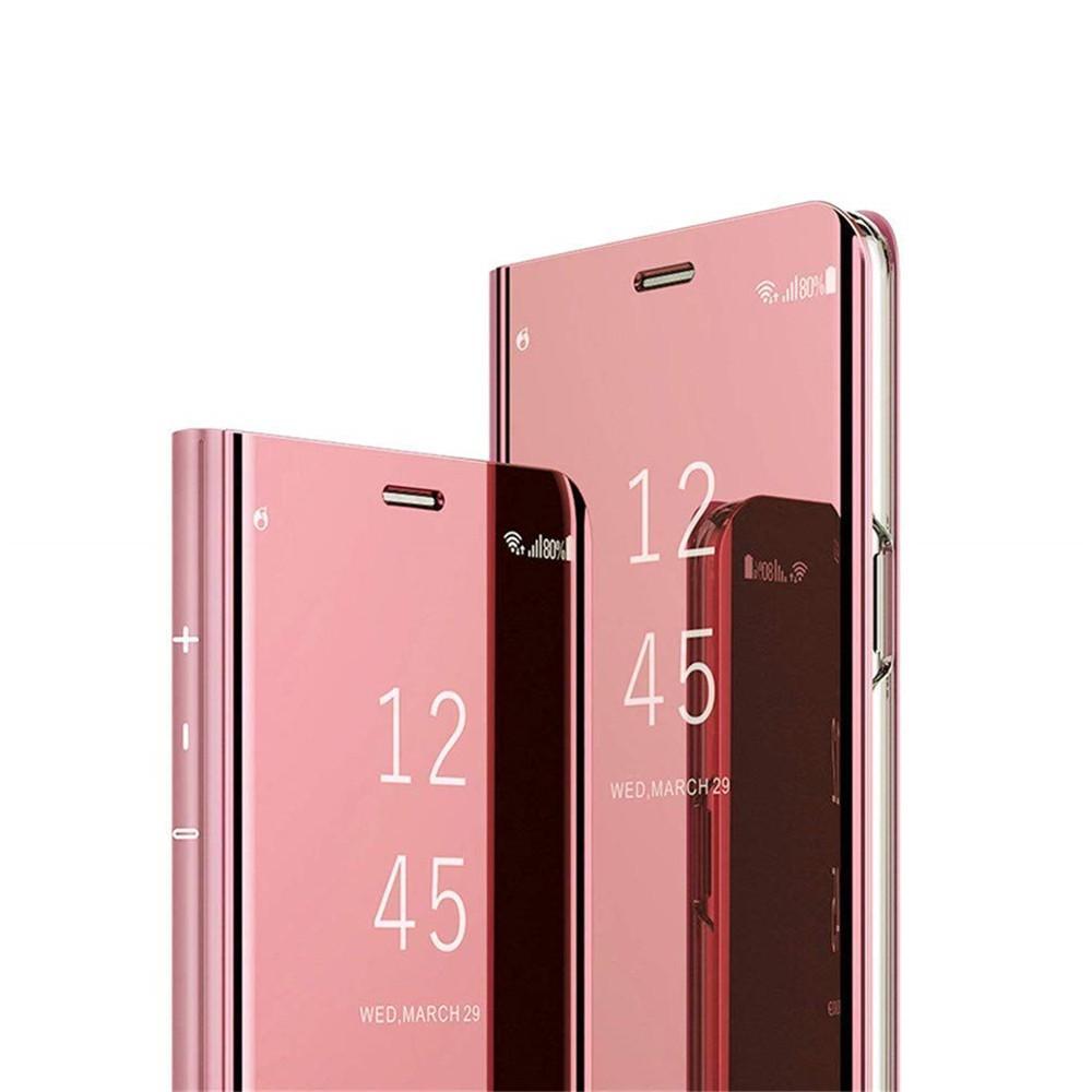 080f2f0710db9 Pour Samsung S10 Cas De Luxe Vue Claire Électrolytique Placage Miroir  Maquillage Corps Complet De Protection Housse Flip Case Cover pour Samsung  S10 ...