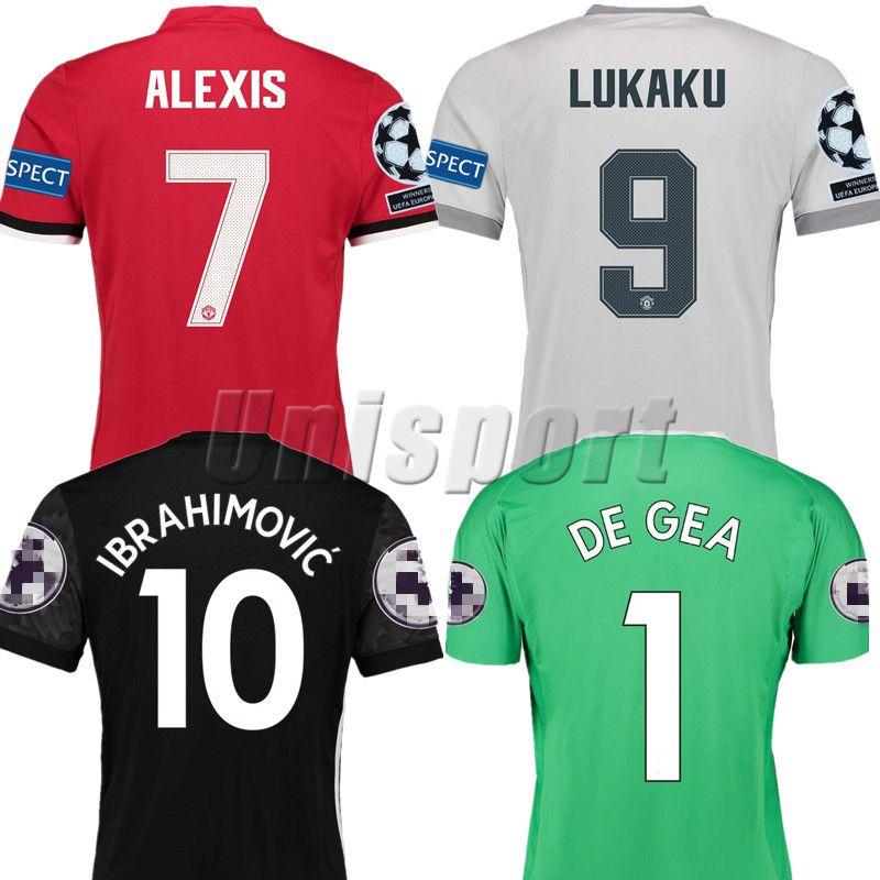 promo code f65c6 9ab15 2017/18 Alexis Lukaku Ibrahimovic Martial Pogba Rashford Lingard Soccer  Jerseys Man Futbol Camisetas Football Shirts Kit Maillot Utd