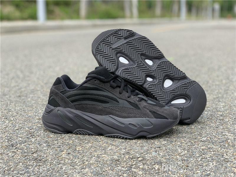 quality design 3e910 bae7e High Quality Vanta Wave Runner Man Designer Athletic Shoes New Comfortable  Kanye West All Black Fashion Sport Sneakers Come With Box
