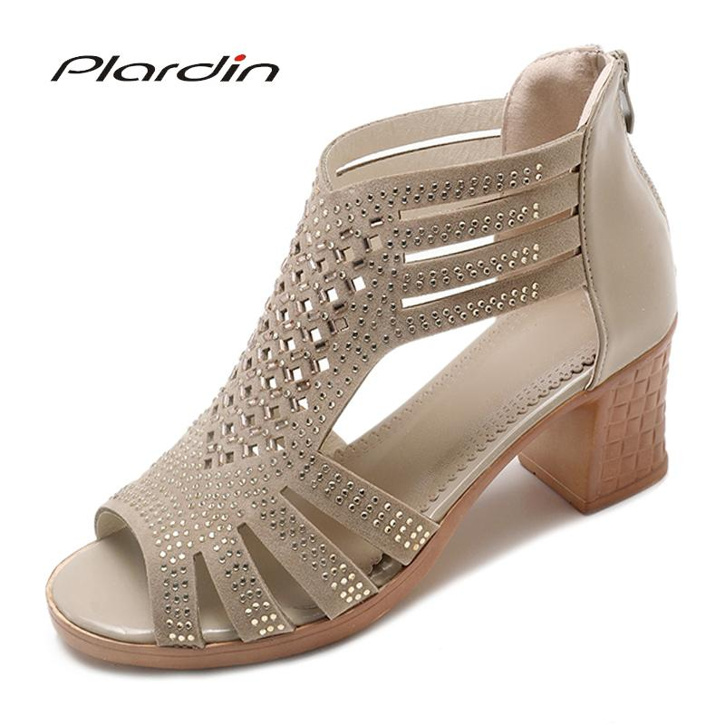 d8243d00a0e Plardin New Summer Women String Bead Square Heel Pumps Sexy Shoes Pointed  Top Cross Tied Zipper For Woman Heels Shoes Sandal Ladies Shoes Loafers For  Men ...