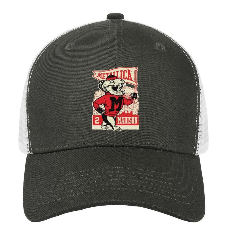 e262a96ce Metallica madison King of metal army_green mens and women trucker cap  baseball cool custom running hats