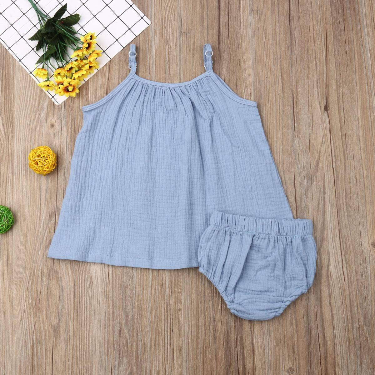 Criança crianças Bebés Meninas cor sólida mangas longas Tops + Mini Shorts roupas de verão roupa ocasional Kid