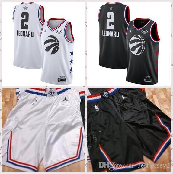 72357e76719 Men'S Toronto Kawhi Raptors 2 Leonard Brand White Black 2019 All Star Game  Finished Swingman Jersey And Ball Short Graphic Tees For Men Vintage Shirts  From ...