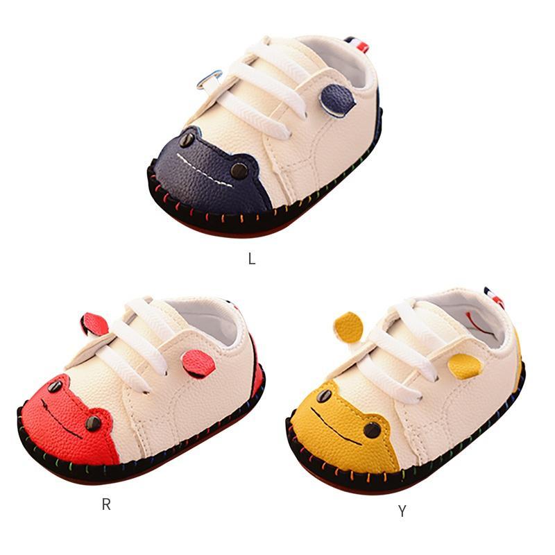 hot sale online ca43e 4aaec Frühling Neugeborenen Babyschuhe Jungen Erste Wanderer Kleinen Frosch Nähen  Tasche Kleinkind Schuhe Gummisohle Baby 6-18 Mt