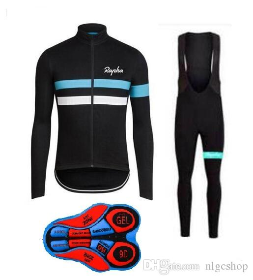 2018 RAPHA Cycling Winter Thermal Fleece Jersey Bib Pants Sets Cycling  Cycling Suit Men S Bicycle Windproof Wearable Clothes L304522 Cycling Team  Jerseys ... 04a48a707