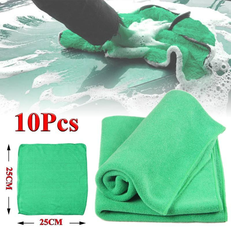 SALE Multipurpose 10PCS Microfiber Washcloth Car Care Cleaning Towels Soft Cloths Tool Accessories Wholesale Quick delivery CSV