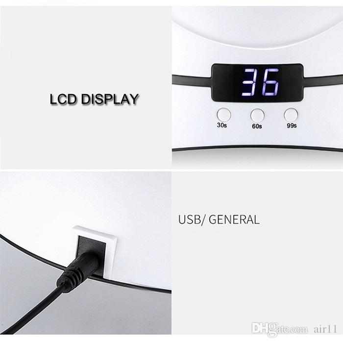 36W UV Lamp Nail Dryer For All Types Gel 12 Leds UV Lamp for Nail Machine Curing 30s 60s 90s Timer USB Portable UV lamps