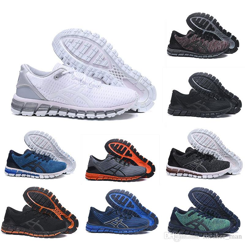 various colors c7528 f6cb9 Top Quality ASIC Running Shoes Gel-Quantum 360 mens shoes Weaves Vamp black  white red blue women sports trainers sneakers Hot selling