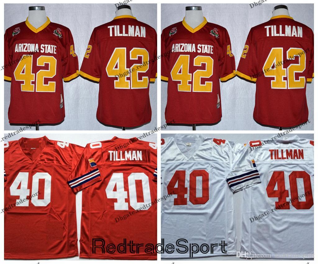 super popular 9aa9c 2a00b Vintage Arizona 40 Cardinals Pat Tillman Football Jerseys Cheap Home Red  White 40 Pat Tillman Stitched Shirts M-3XL
