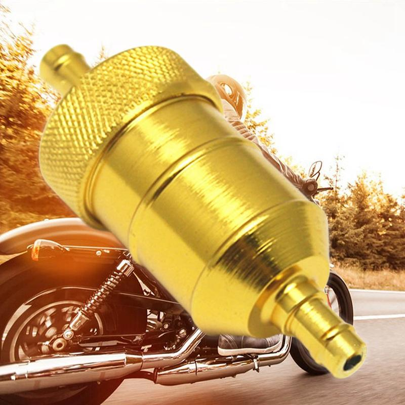 Universal 8mm Petrol Gas Fuel Filter Cleaner For Motorcycle Pit Dirt Bike ATV Quad Oil Gas Fuel Filter