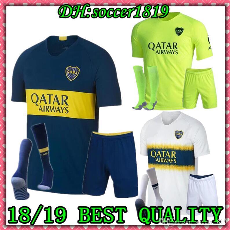 newest c1390 6df71 ADULT kit SOCKS 18 19 Boca Juniors Home Soccer jerseys Uniforms Men s  Soccer Jersey Boca Away Football Blue White third Pavon GAGO TEVEZ