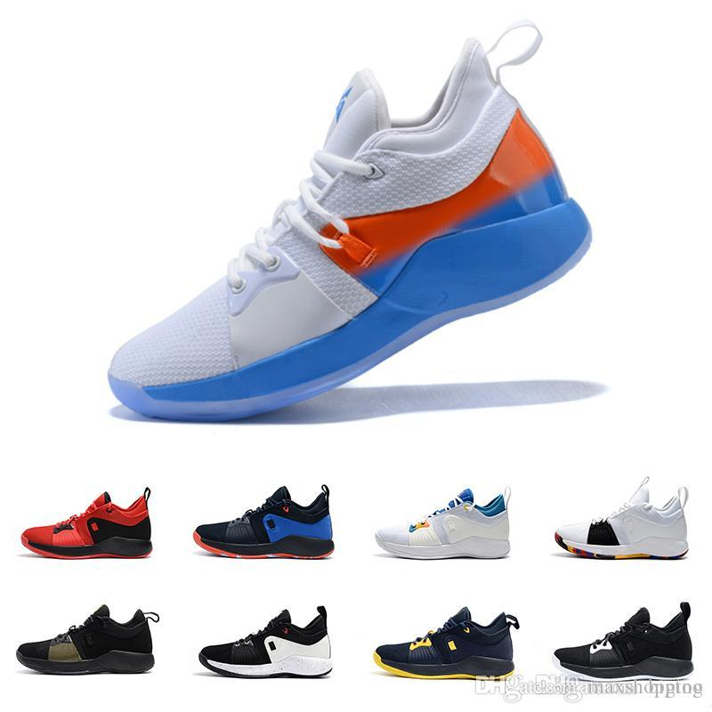 85f82b6a32a 2019 2018 New Paul George 2 PG II Mens Basketball Shoes PG2 2S Starry Blue  Orange All White Black Sports Sneakers Shoes Size 40 46 From Maxshopping