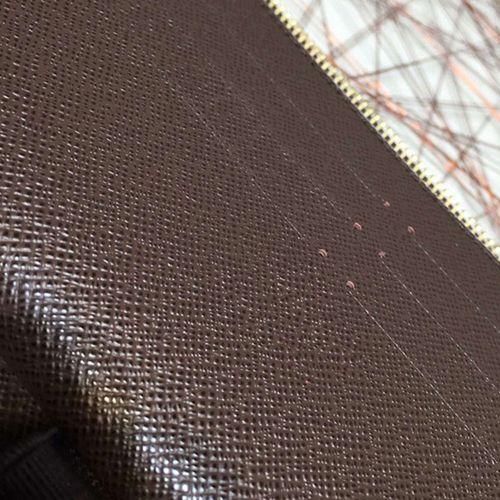 7stars European N60003 Zippy Organizer Passport Bag Großer Reißverschluss um Canvas Grid Herren Dokumententasche Scheckheft und Stiftetasche Großer Kartenhalter