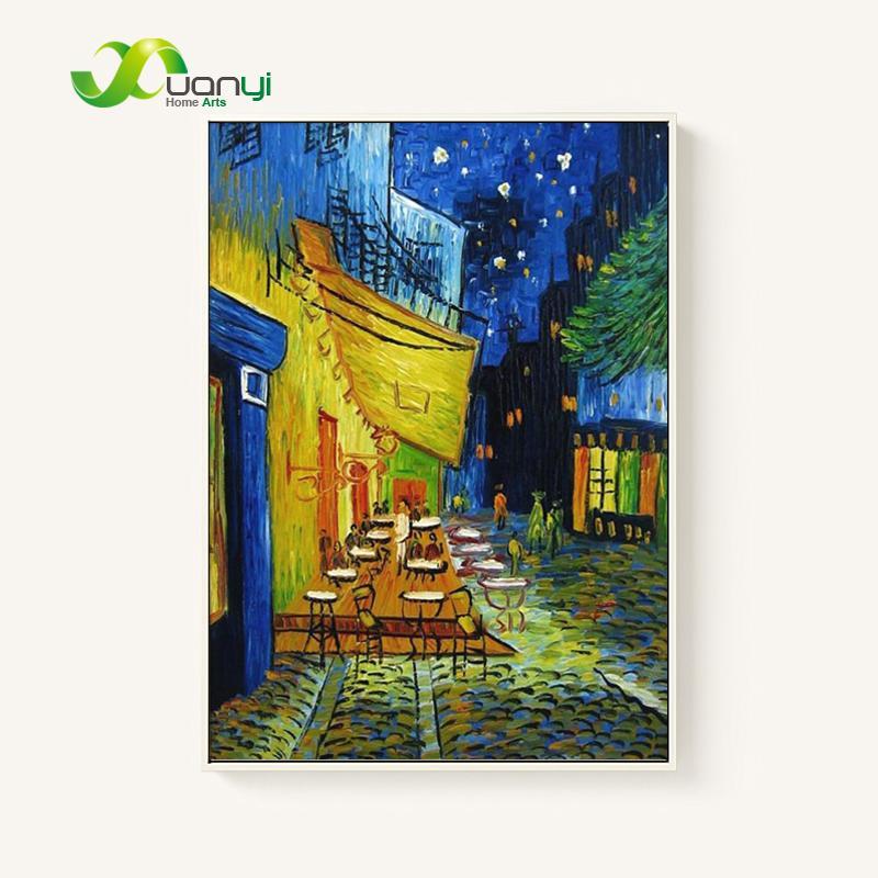 Satın Al Anvas Boyama Gece Cafe Cafedusoir Van Gogh Boyama