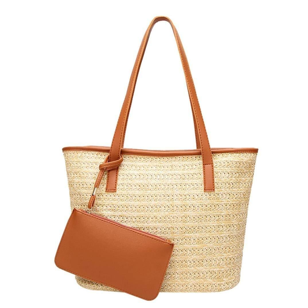 Fashion Women Straw Purse Ladies Straw Beach Coin Wallet Shoulder Bag Round Fluffy Woven Travel Holiday Tote Handbag Coin Purses Coin Purses & Holders
