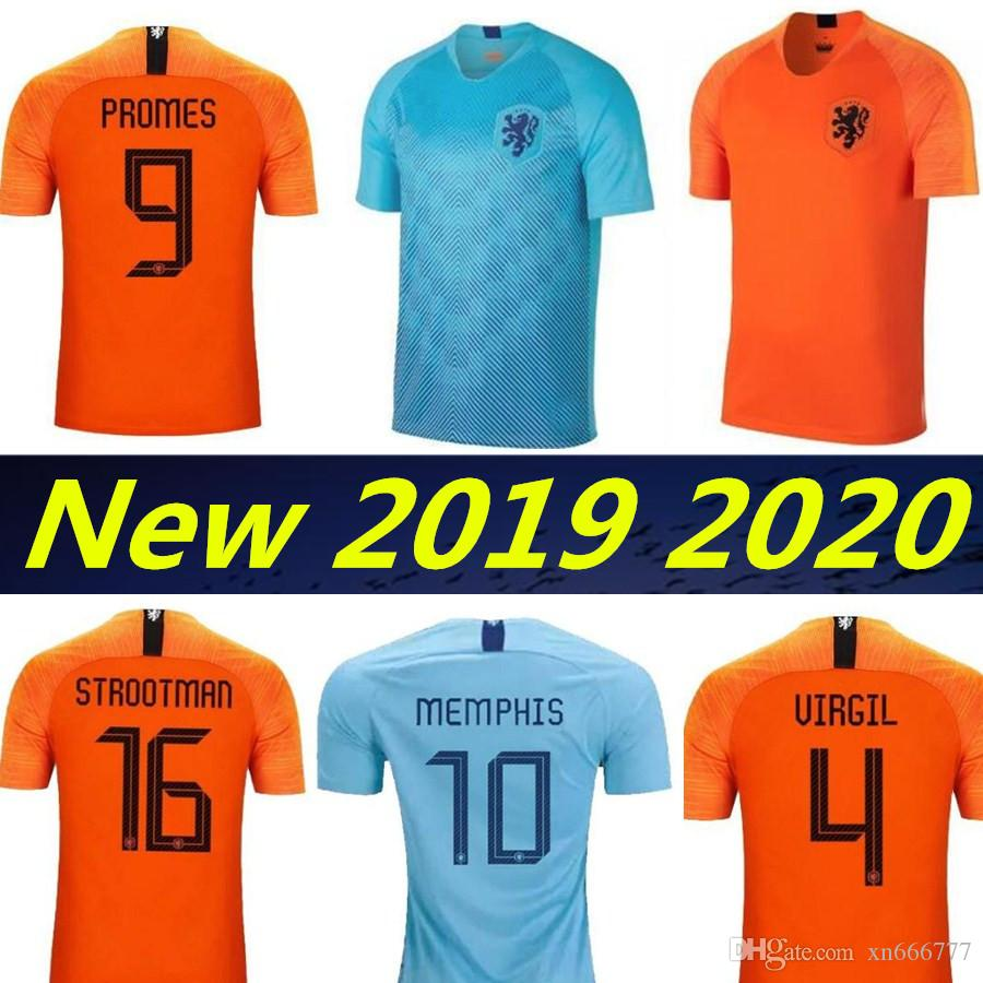 2667bd6bf 2019 19 20 Holland National Team Soccer Jerseys 2019 2020 Netherlands  European Cup Jersey DE JONG VIRGIL PROMES MEMPHIS Football Shirts Kits From  Xn666777