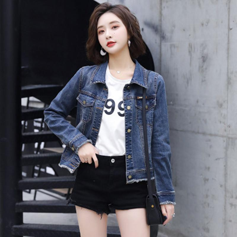 d71baef29451 2019 Spring Basic Wear Denim Jacket Women And Short Basic Coats With  Embroidered Top Denim Jeans Women From Ferdinand07, $47.94 | DHgate.Com