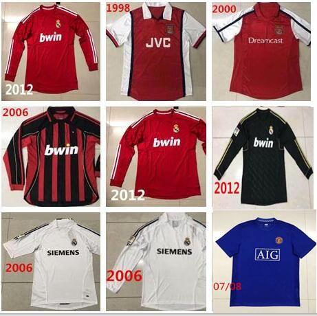 2019 2012 Real Madrid Retro Soccer Jerseys 2007 Manchester Retro Football  Uniform 1998 Arsenal Classic Soccer Shirts Vintage Football Jersey From  Zhuhao2 a0ee59b565a1e