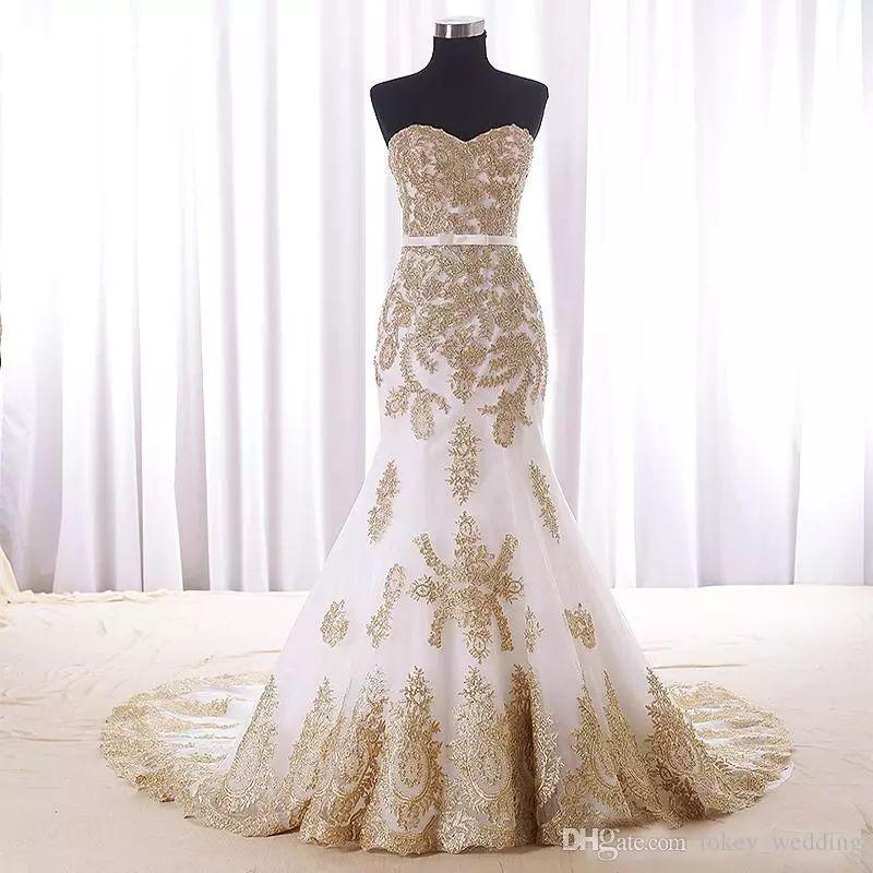 Dorados para vestidos de novia