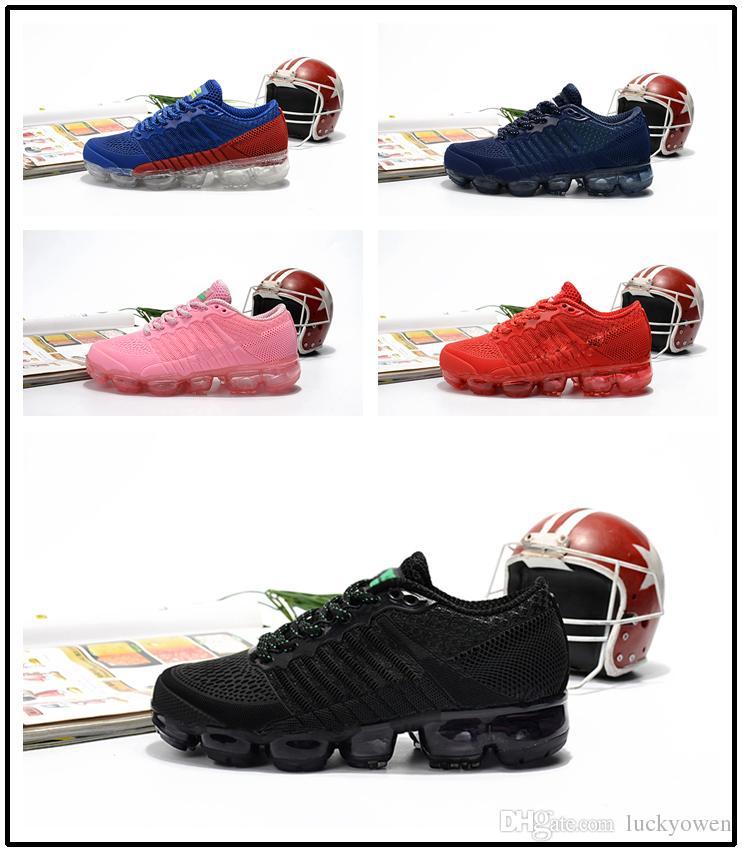 Nike Course Maille Air 2018 Enfants Chaussures Plein Formateur Infant Sport De Enfant Vapormax Airmax En Bas Max Âge ARj354L