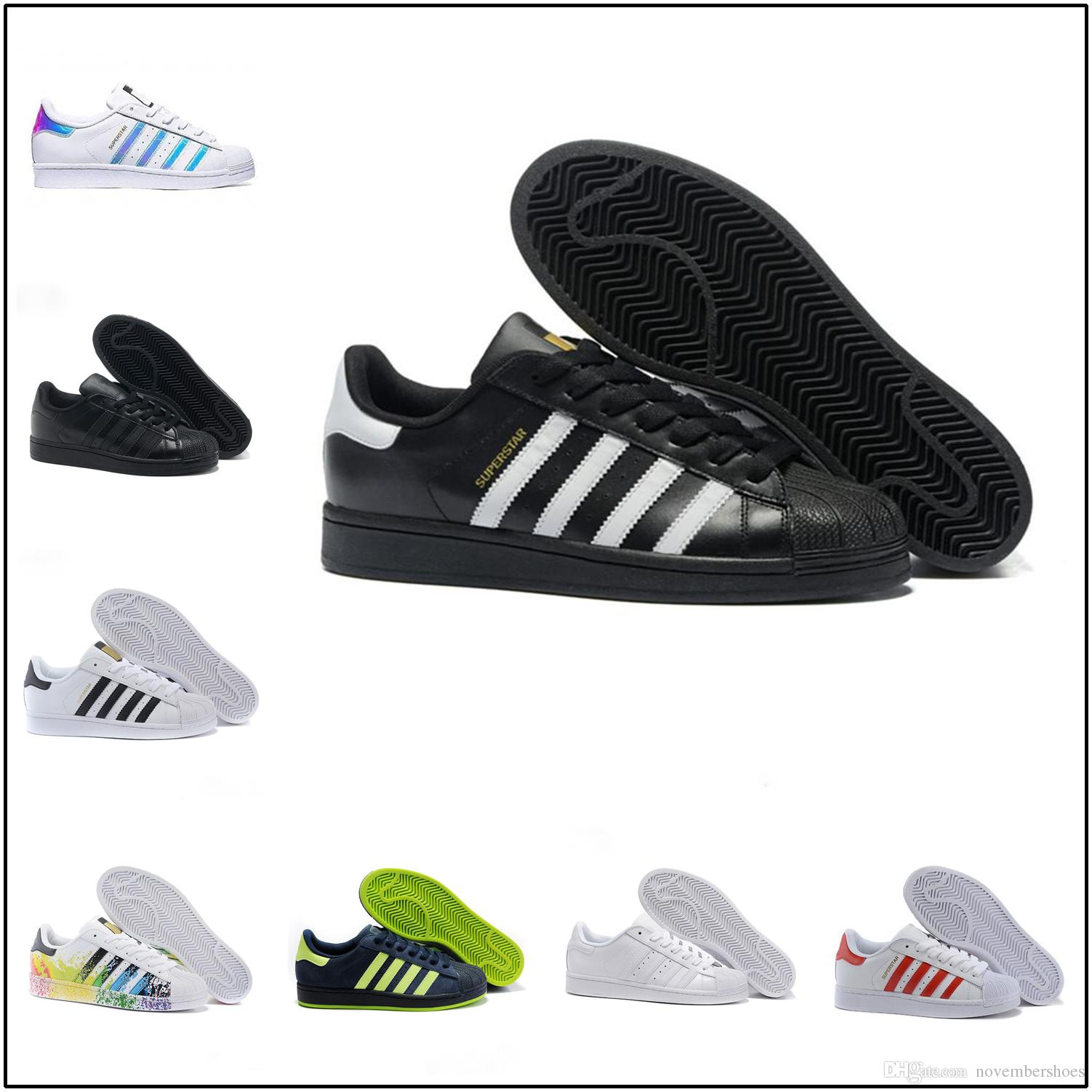 Taille De Couleurs Chaussures 2018 Sneakers 44 Hommes Super Star Appartements Femmes 36 Femme 15 Adidas Superstar Marche Yv7b6gyf