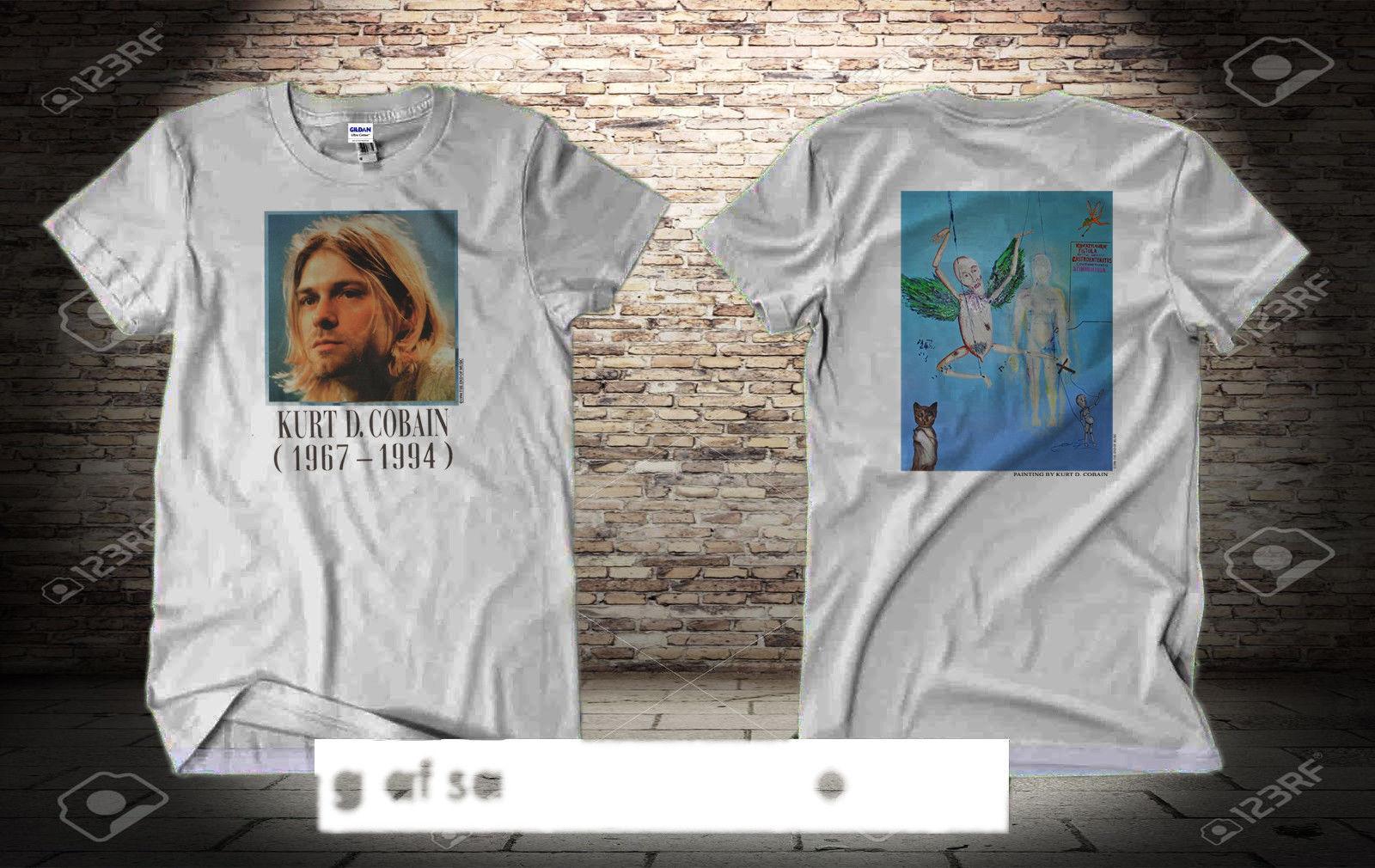 4b52f470f Rare Vintage Nirvana Kurt Cobain 1994 95 White T Shirt Size S 2XL Reprint  2018 Summer Hot Sale 100% Cotton Cool Fashion Funny Print T Shirt Slogans  Dirty T ...