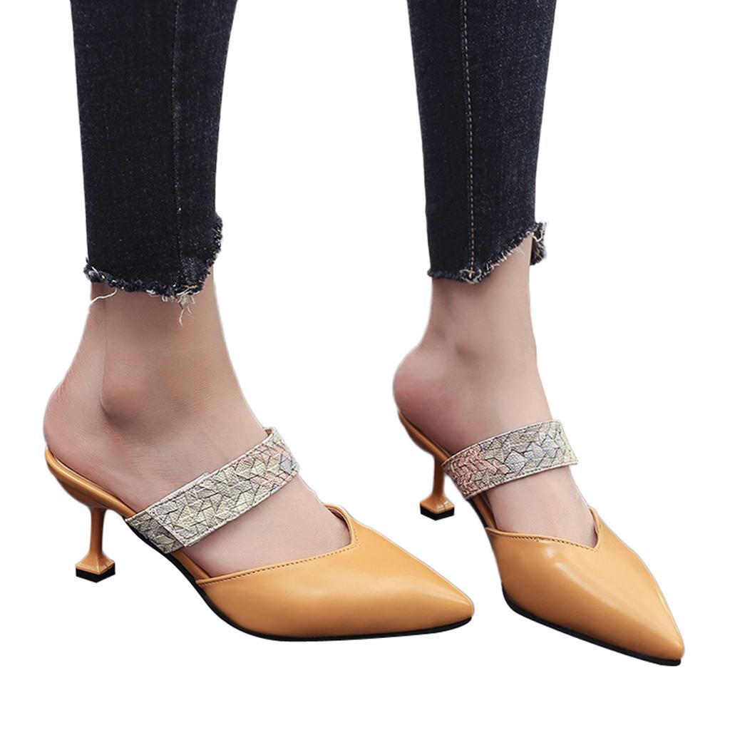 Compre Zapatos De Vestir De Diseñador Youyedian Zapato De Lujo Sandalias De Las  Mujeres Serpiente Puntiaguda Única Casual Stiletto Zapatillas Señoras Haut  ... da90aef2aea5