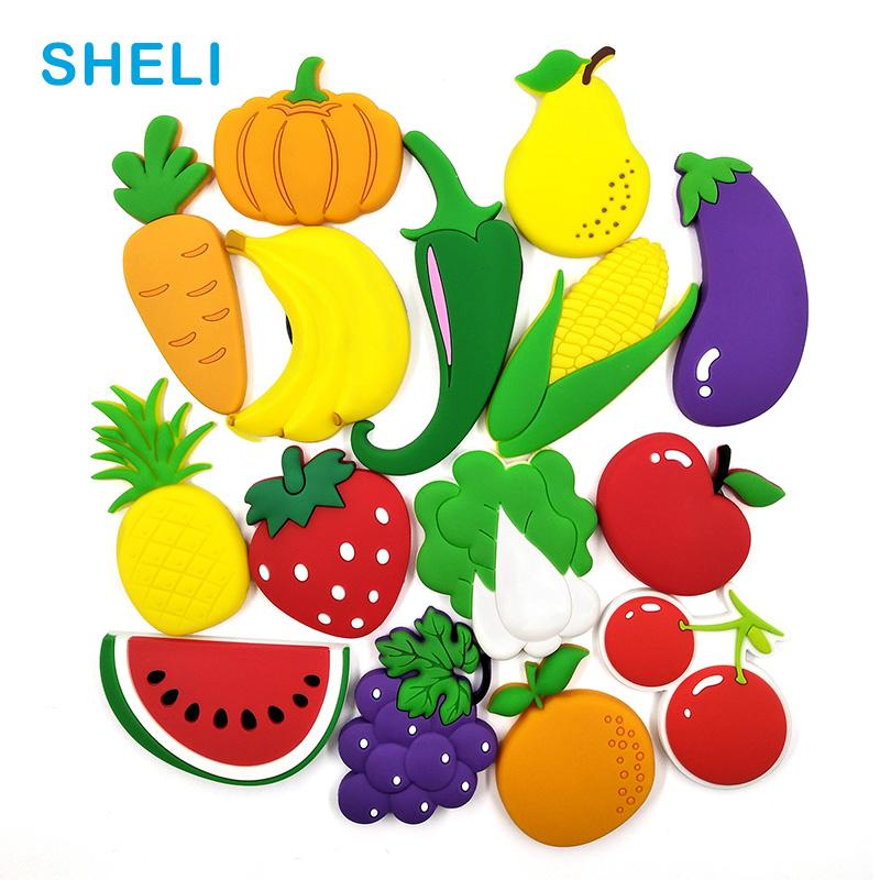 Vegetable Fruit Silicone Fridge Magnets Bicycle Whiteboard Love