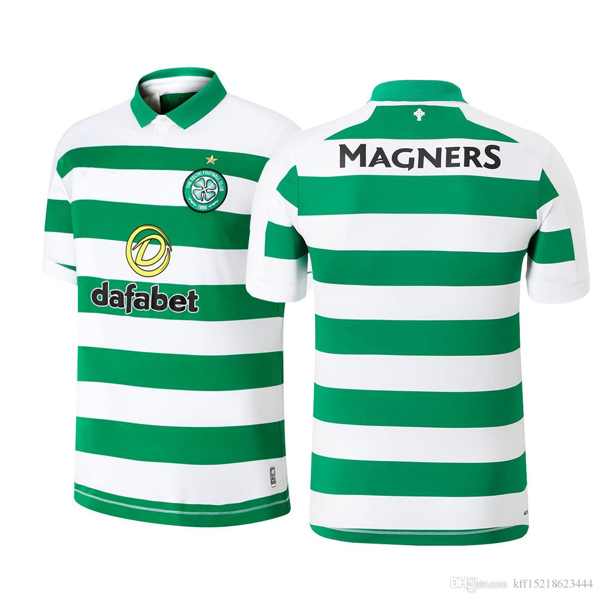 reputable site 2e335 b7174 19-20 New Home Kit Celtic FC Scott Sinclair S.Armstrong L.Griffiths Roberts  Rogic custom football jerseys soccer store football tops
