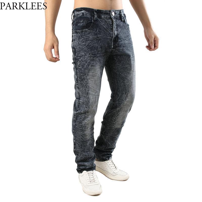 Compre Moda Para Hombre Aerosol Para La Nieve En Pantalones De Jeans Rectos  2018 Casual Hip Hop Punk Estilo Pantalones De Mezclilla Ajuste Relajado  Lavado ... 7e4eb93c80d