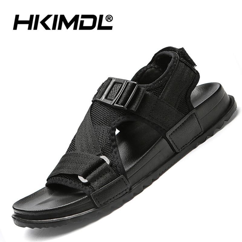 69be1bf9bf3c HKIMDL 2019 Summer Sandals Men Camouflage Gladiator Sandals Flip Flops Male  Beach Shoes Slippers Slides Flat Shoes Walking Walking Sandals Sandals From  ...