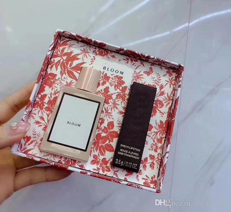 Makeup 30ml Perfume Lipstick Set Perfume For Woman Bloom