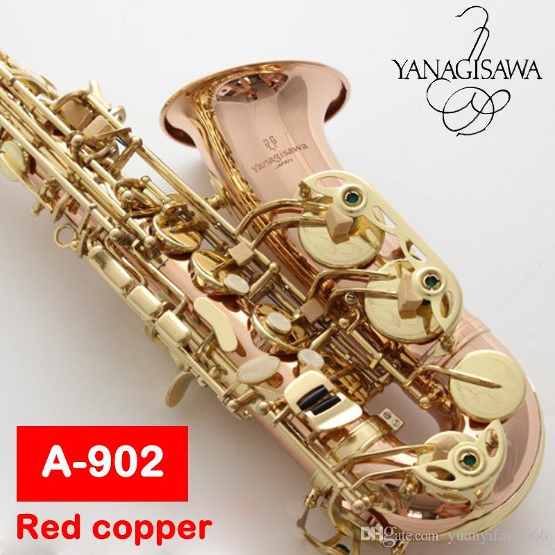 Japan New Alto Saxophone Yanagisawa A-902 Eb Flat Alto Sax Top saxofone  phosphor bronze copper Musical Instruments Professional free shippin