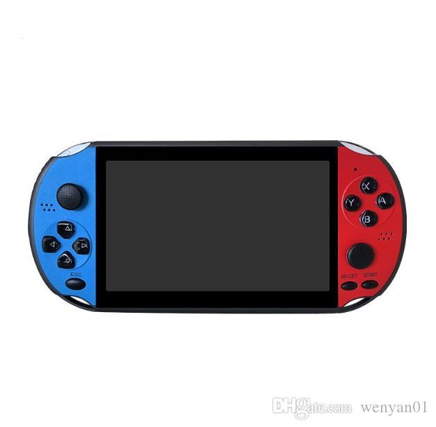 X12 jeu portable Lecteur de 8 Go de mémoire Console de jeux vidéo portable avec 5.1