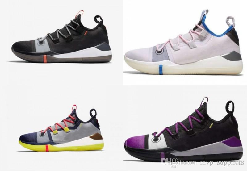 wholesale dealer e56f7 b62d5 2019 New Kobe AD React Exodus Derozan Red Silver Purple Pink Basketball  Shoes High Quality KB Mens Trainers Sports Sneakers Size 7-12