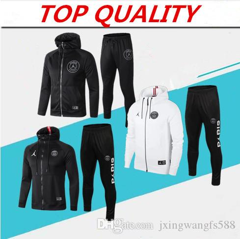 a9bafd681 2019 Top Quality PSG 2018 2019 Soccer Tracksuit Hooded Jacket ...