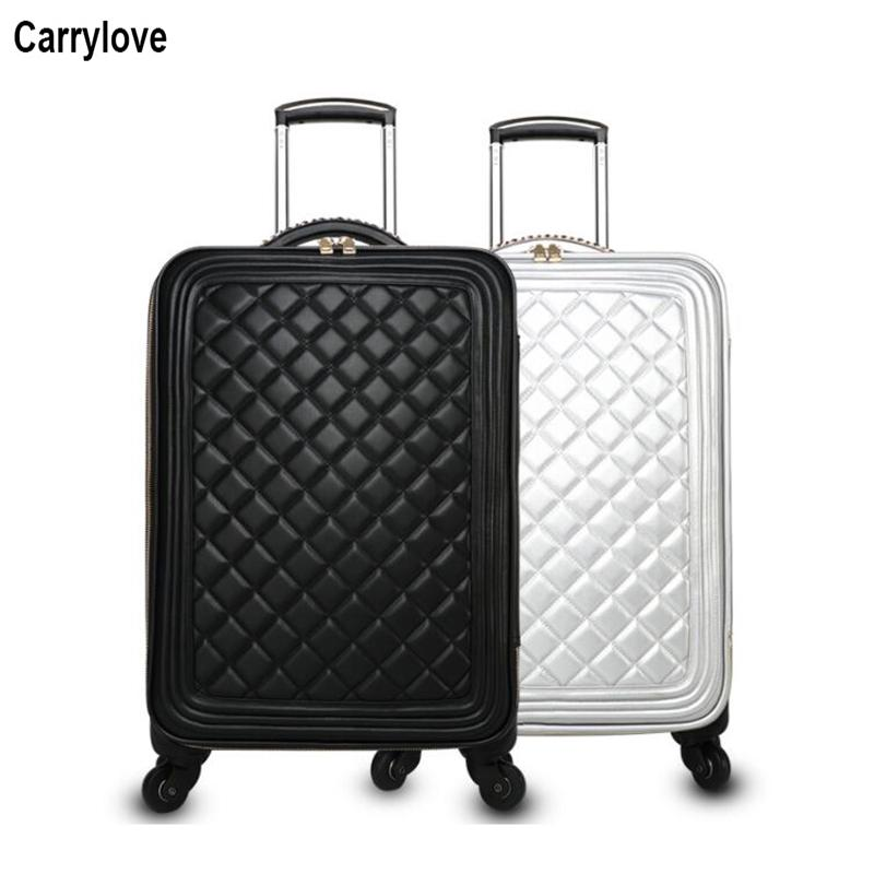 b9e3b20ea5db CARRYLOVE 16 20 Inch Women Leather Suitcase Set Spinner Business Cabin  Rolling Luggage for Girls Rolling Luggage Cheap Rolling Luggage CARRYLOVE 16