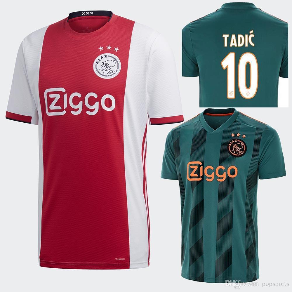 e82e09f59 2019 2019 2020 TOP Ajax DE JONG TADIC Home Away Uitshirt Thuisshirt Kit  Soccer Jerseys NERES ZIYECH Football Shirt Camisas De Futebol DE LIGT From  Popsports ...