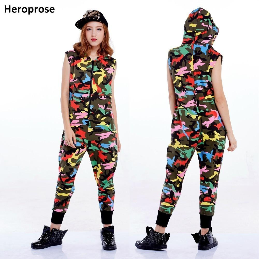 2019 New Fashion Hip Hop Dance Costume Performance Wear European Loose Leopard Harem Jazz Jumpsuit One Piece Pants Y19071701