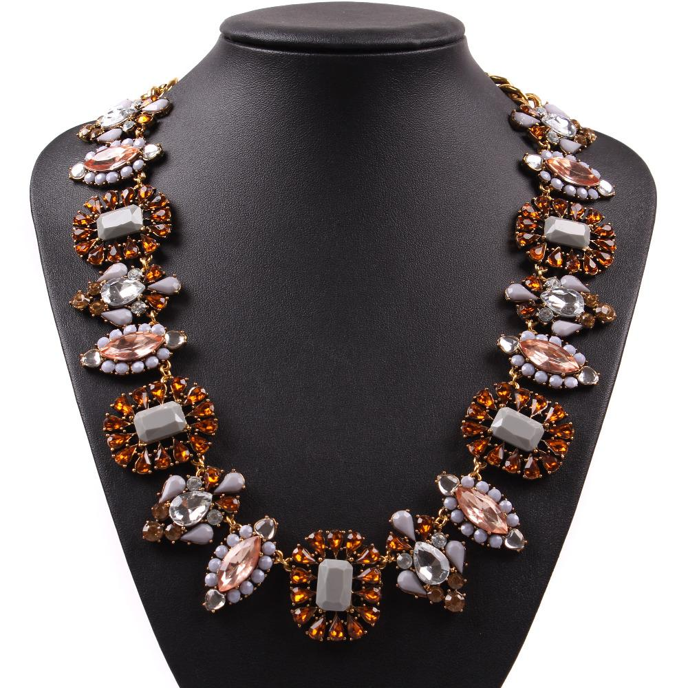 2019 New Arrival Design USA and Europe Fashion Elegant Statement Brand Vintage Chain Necklace Choker Crystal Jewelry for Women