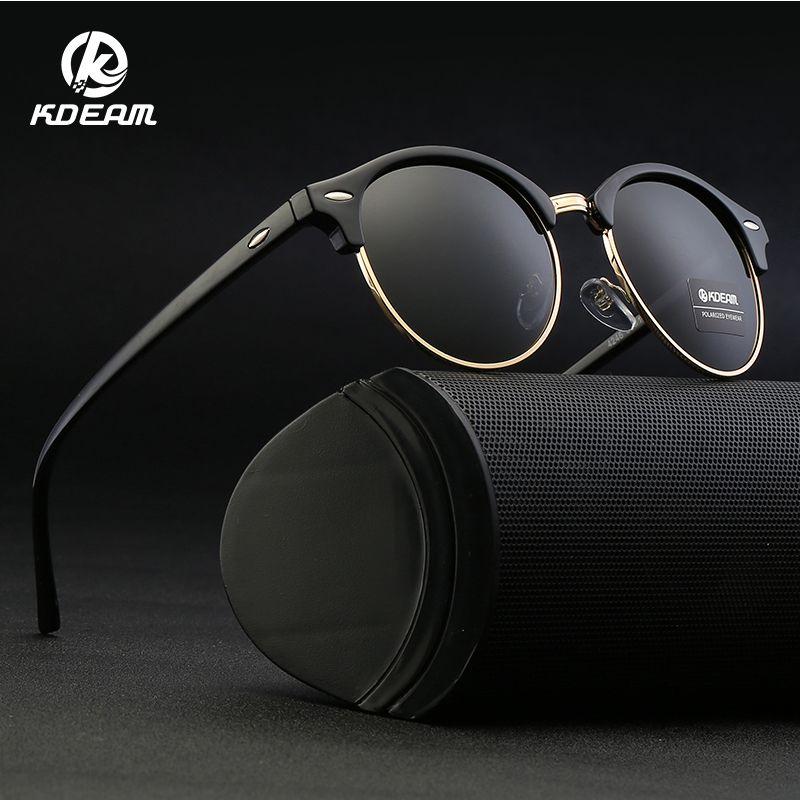 a5bf22d257f KDEAM New Retro Brand Designer Round Sunglasses Polarized Women Half Frame  Mirrored Polaroid Vintage Glasses With Case KD4246 Fastrack Sunglasses  Smith ...