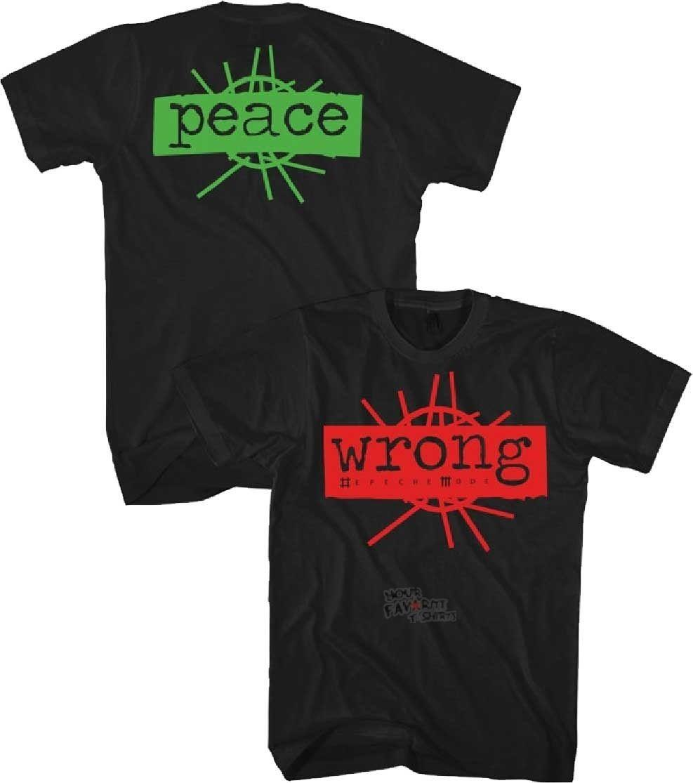 Depeche Mode Wrong Peace Licensed Adult T Shirt Cool Casual pride t shirt men Unisex New Fashion tshirt